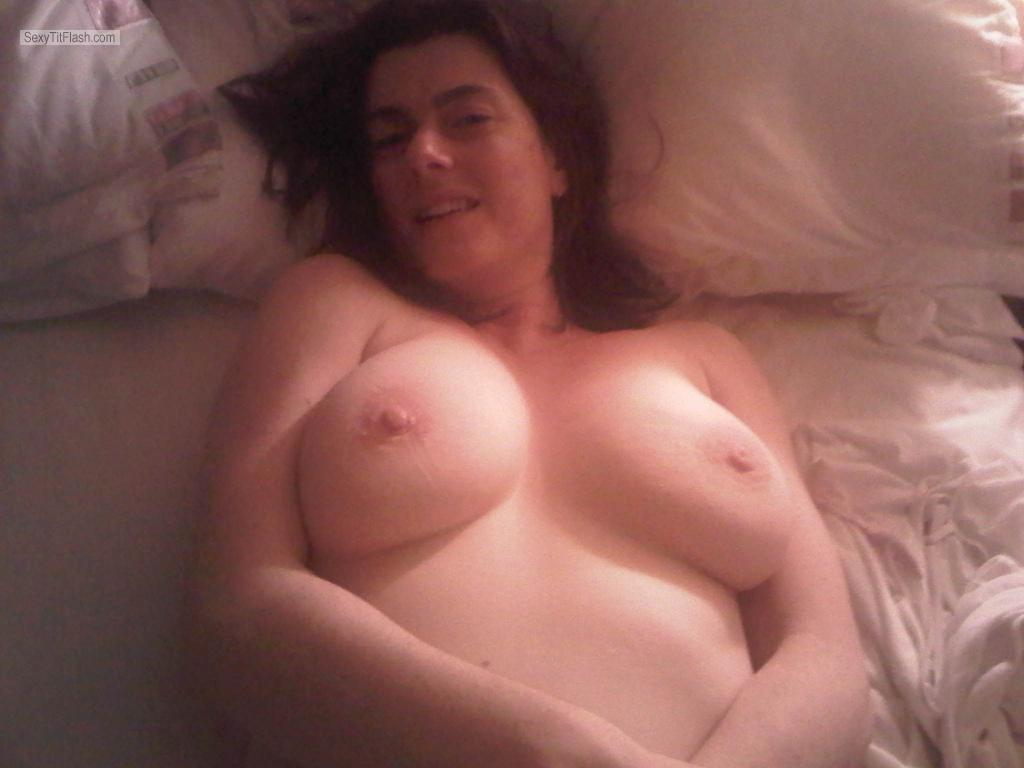 Tit Flash: My Big Tits - Topless Beth from United Kingdom