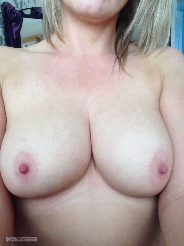 Tit Flash: My Medium Tits (Selfie) - Irishblondie from Ireland