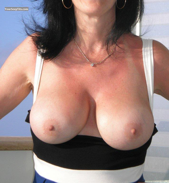Tit Flash: Medium Tits - JB from United States