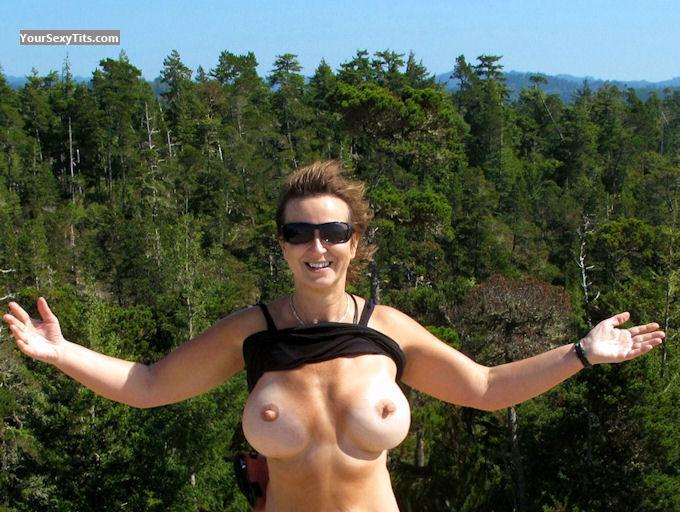 Tit Flash: Big Tits - Topless North West Woman from United States