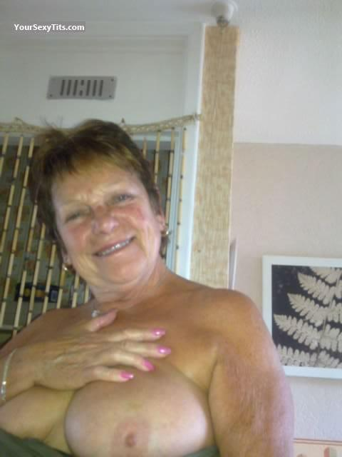 Tit Flash: My Big Tits (Selfie) - Topless Sexy M from United Kingdom