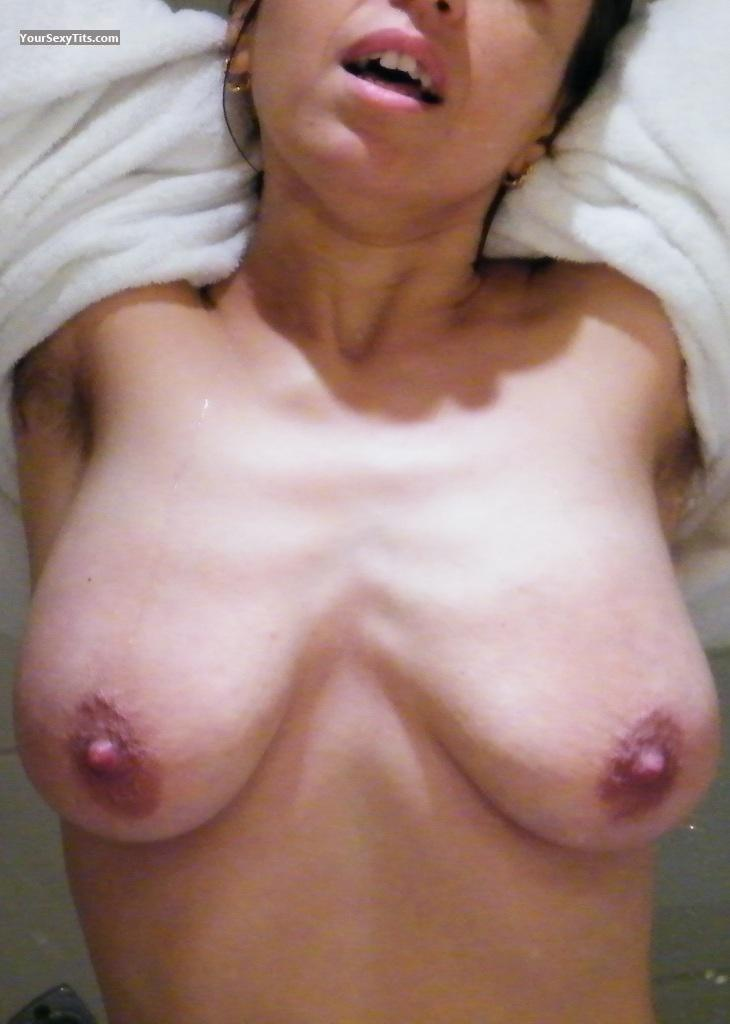 Tit Flash: Small Tits - Topless Laura from Liechtenstein