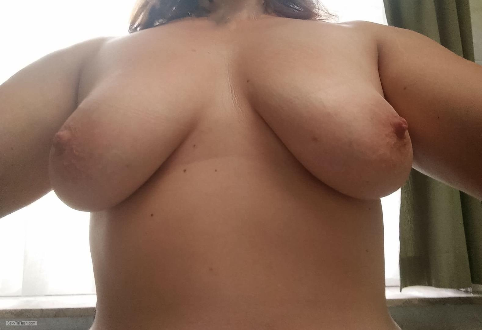 Tit Flash: Wife's Big Tits - Sugar from United Kingdom