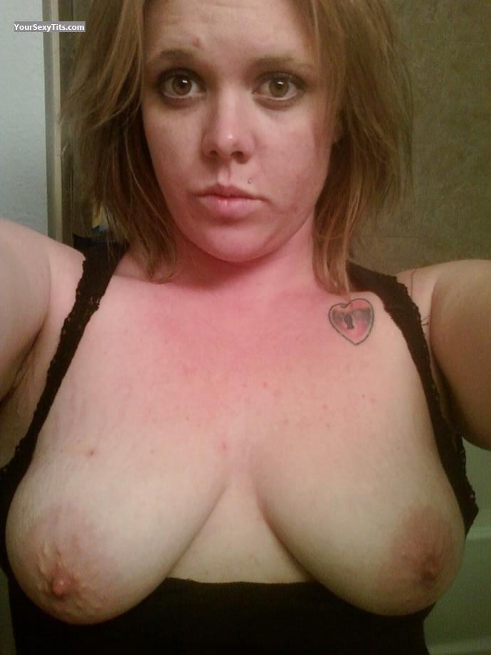 Tit Flash: My Big Tits (Selfie) - Topless Tress from United States