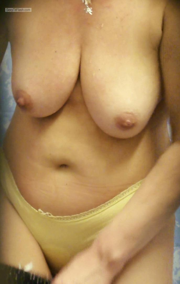 Tit Flash: My Big Tits - Topless Cindy from United Kingdom
