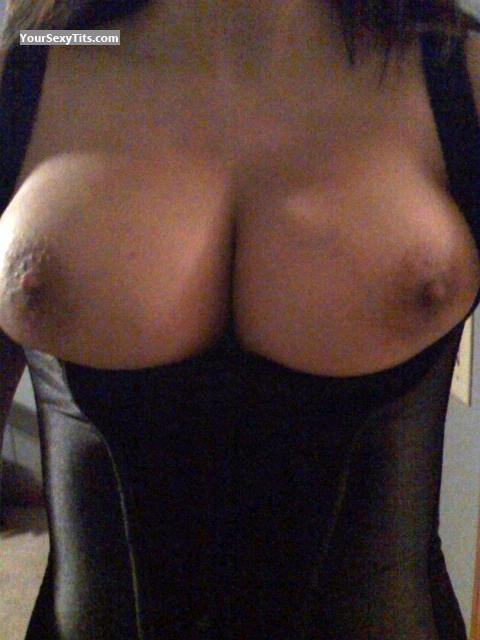 Tit Flash: My Coworker's Big Tits - Meoo from United States