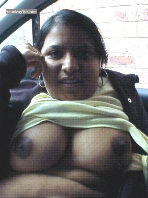 Tit Flash: My Big Tits (Selfie) - Topless Tamima from United Kingdom