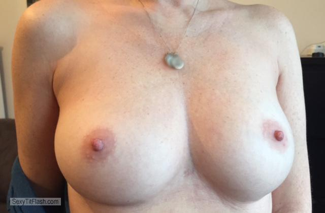 Tit Flash: My Big Tits - Topless AE from United Kingdom