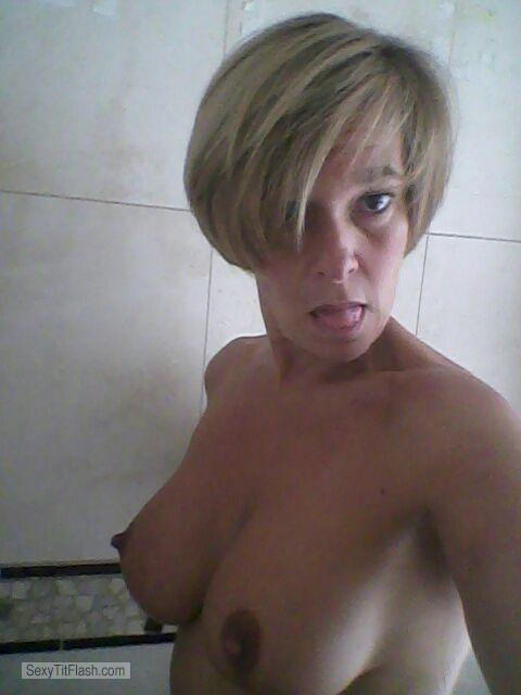 My Big Tits Topless Selfie by Bemilu