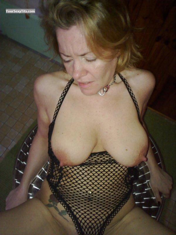 Tit Flash: Big Tits - Topless CORALIE from France
