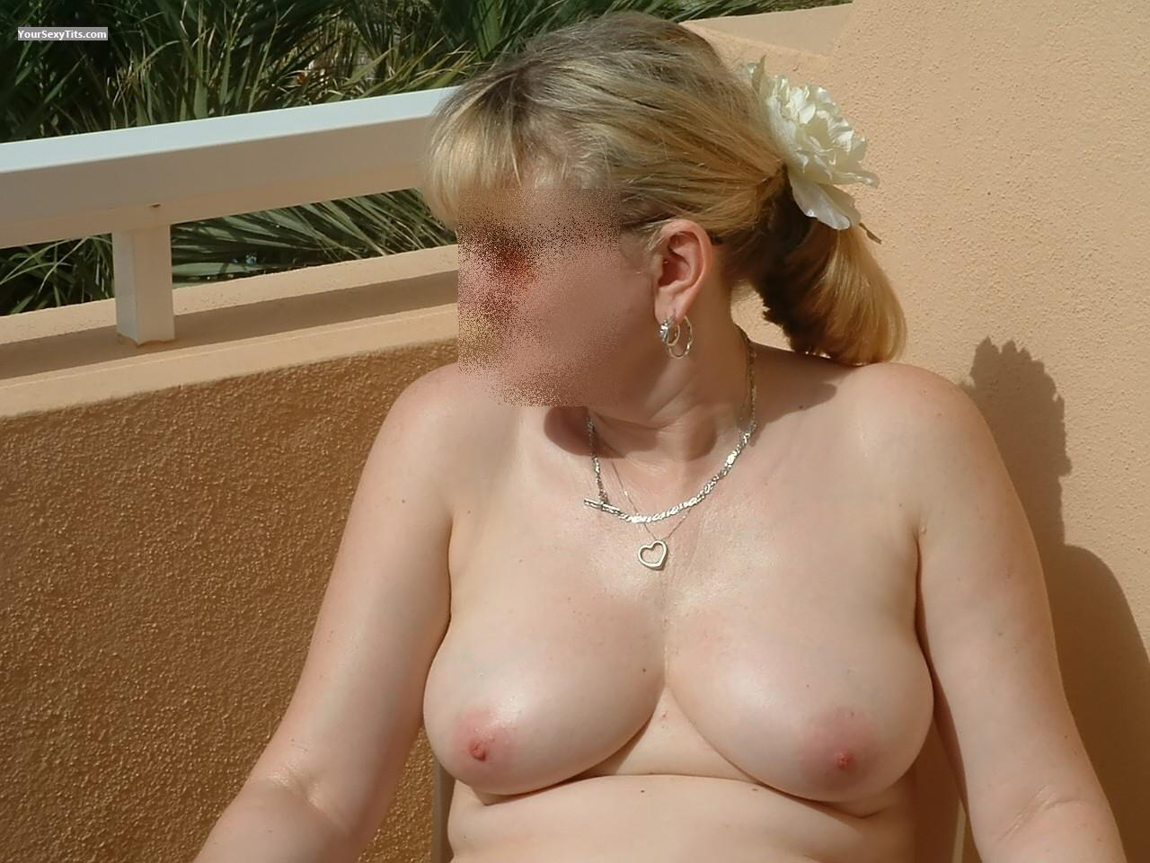 Tit Flash: Wife's Big Tits - Debbie from United States