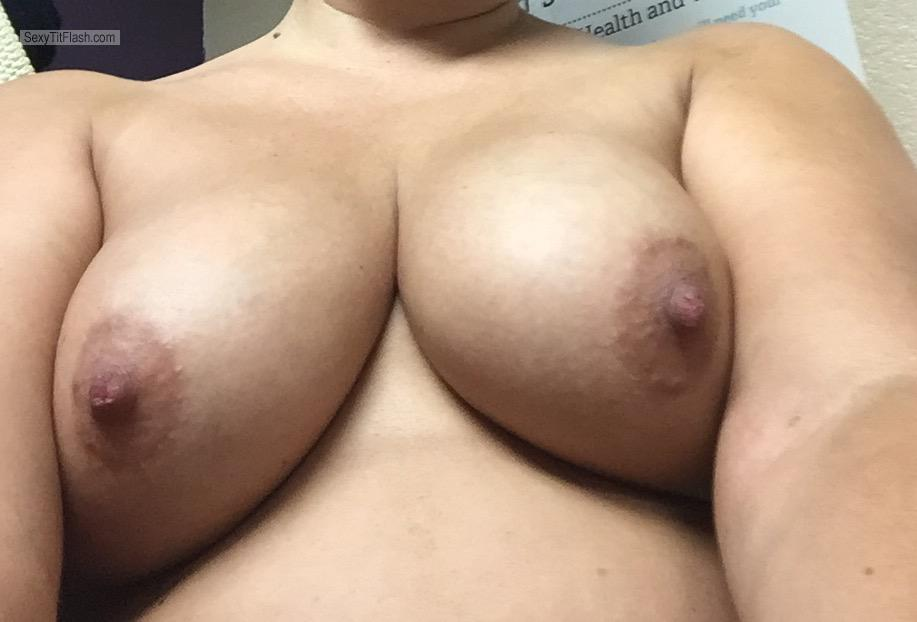 Tit Flash: My Big Tits (Selfie) - Amazing!!! from United States