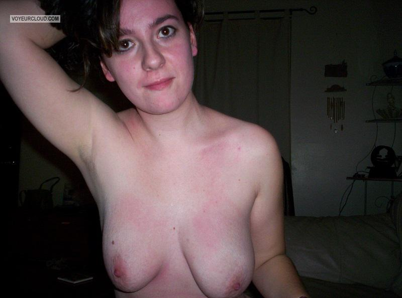 Tit Flash: My Big Tits - Topless Amy from United States