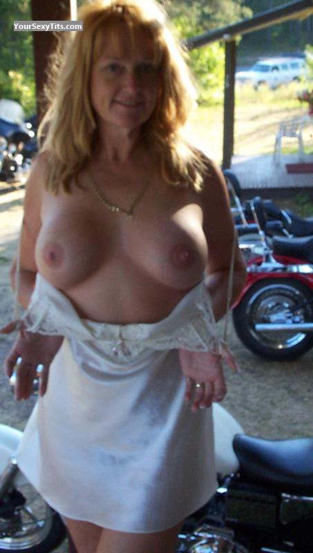 Tit Flash: Big Tits - Topless Bambi from United States