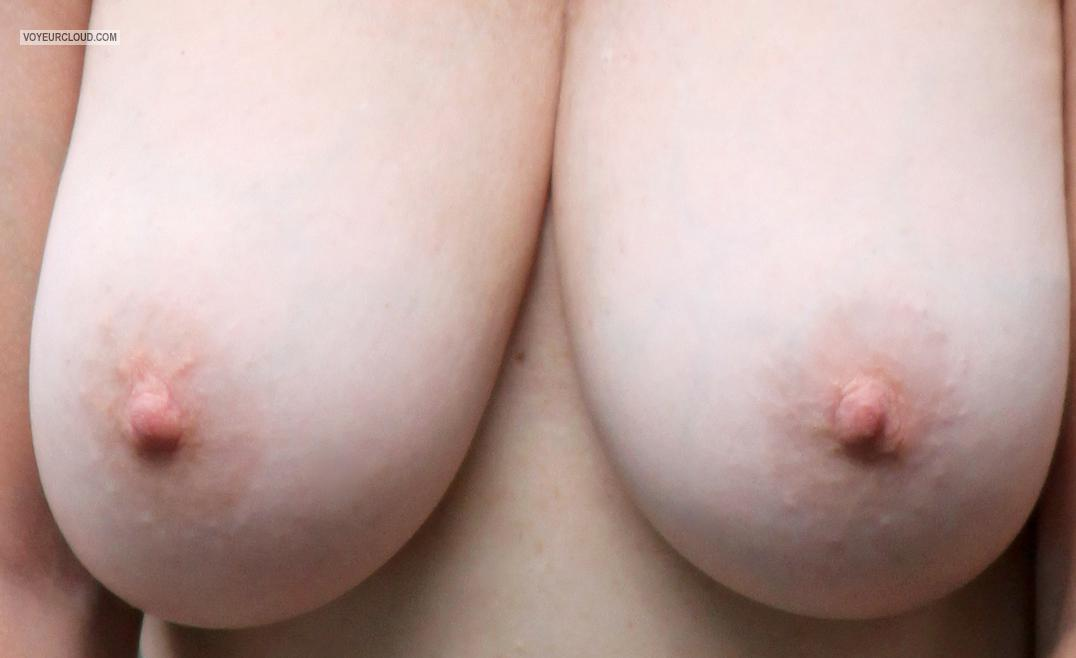 Tit Flash: Wife's Big Tits - AJ from United States