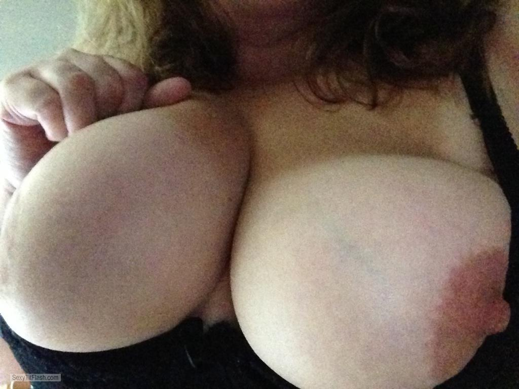 Tit Flash: My Tanlined Big Tits (Selfie) - Christina from United States