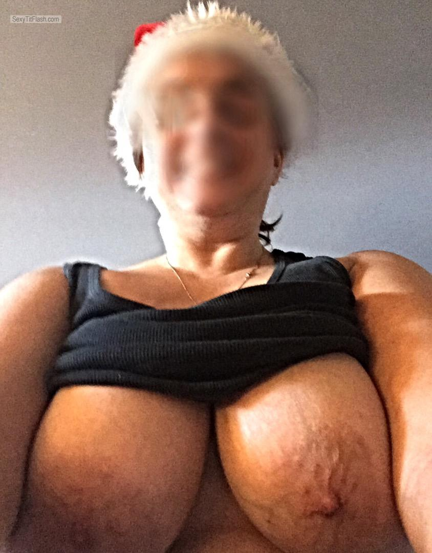 My Big Tits Topless Selfie by Mytitsforyourcock
