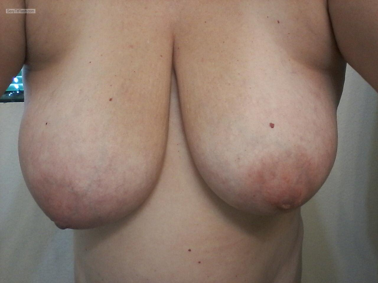 Tit Flash: My Big Tits (Selfie) - Shysexydd from United States