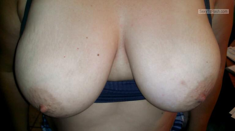 Tit Flash: Wife's Big Tits - Lynn from United States
