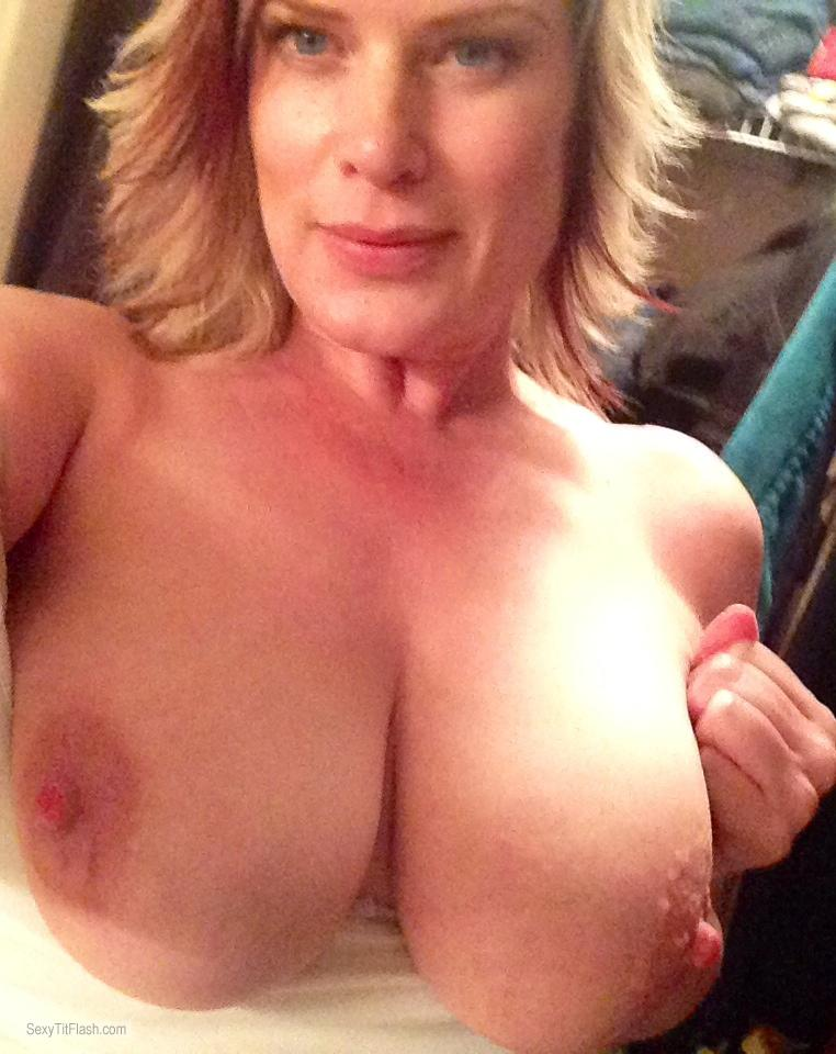 My Big Tits Topless Selfie by April