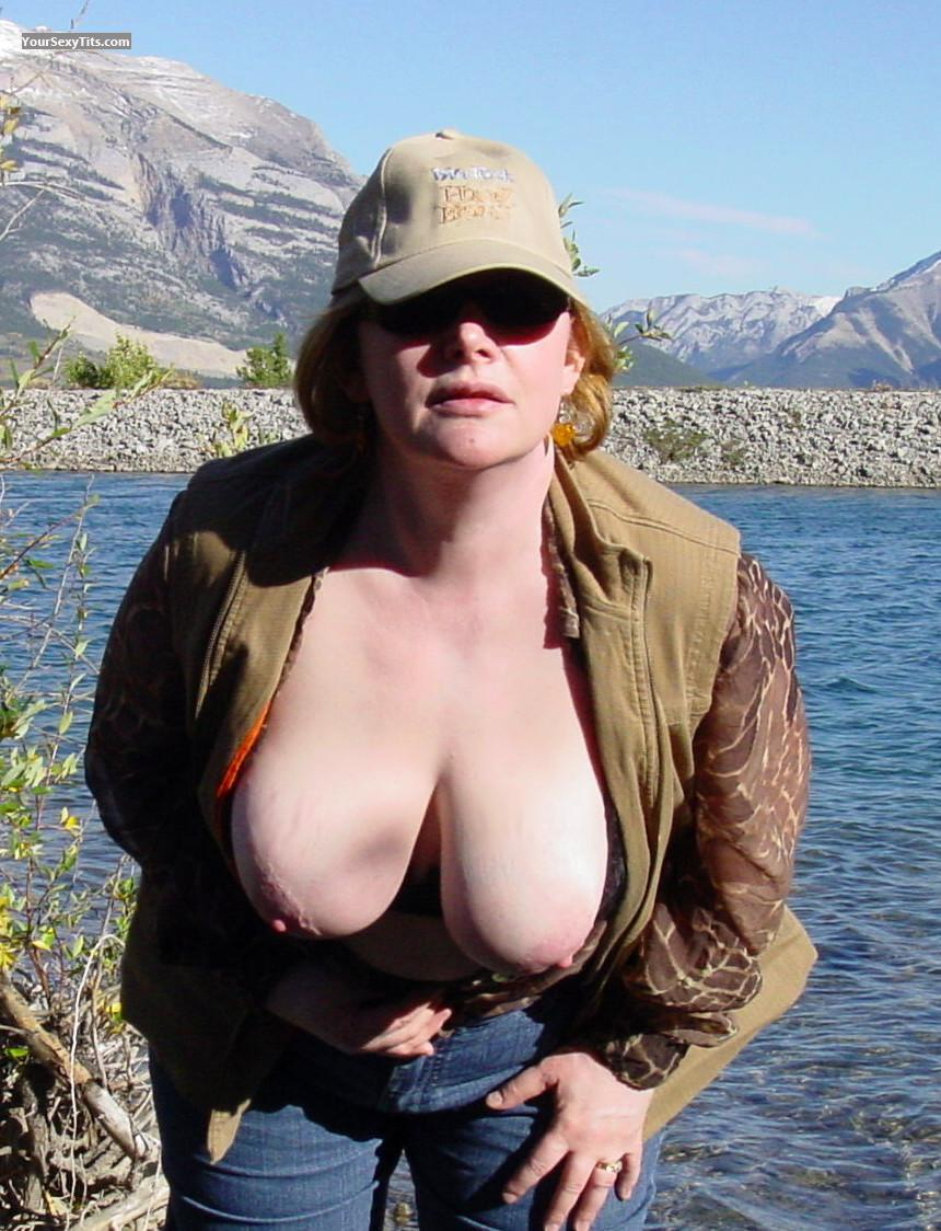 Tit Flash: Big Tits - Bates's Wife from Canada
