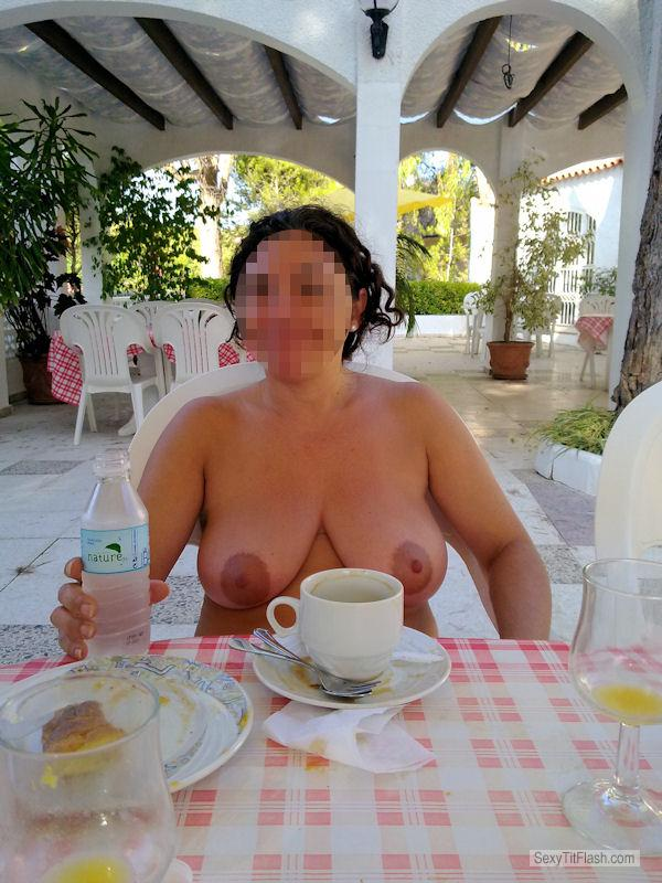 Tit Flash: Wife's Big Tits - Pedazohembra from Spain