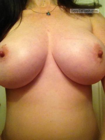 Tit Flash: My Big Tits (Selfie) - Amy from United States