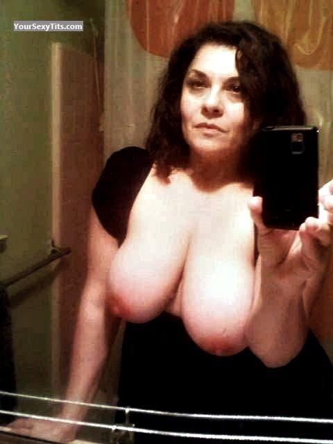 Big Tits Of A Friend Topless Selfie by Betty