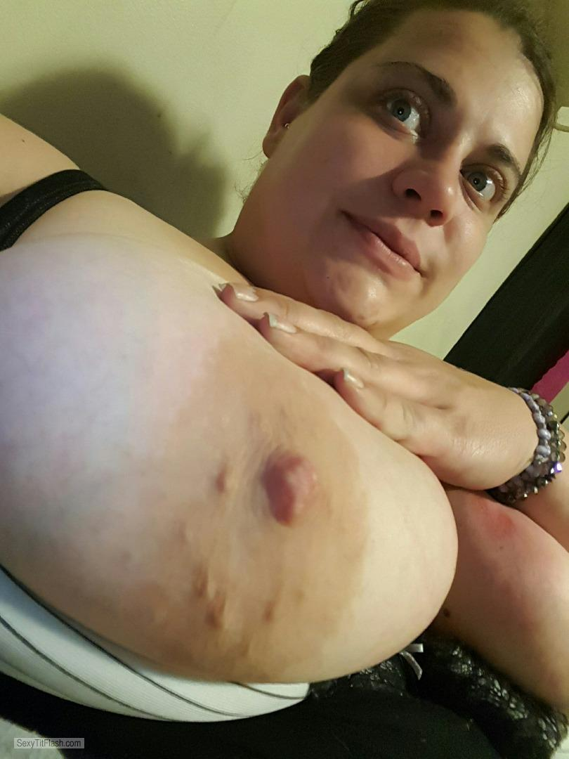 Tit Flash: My Big Tits (Selfie) - Topless Jackelyn858 from United States