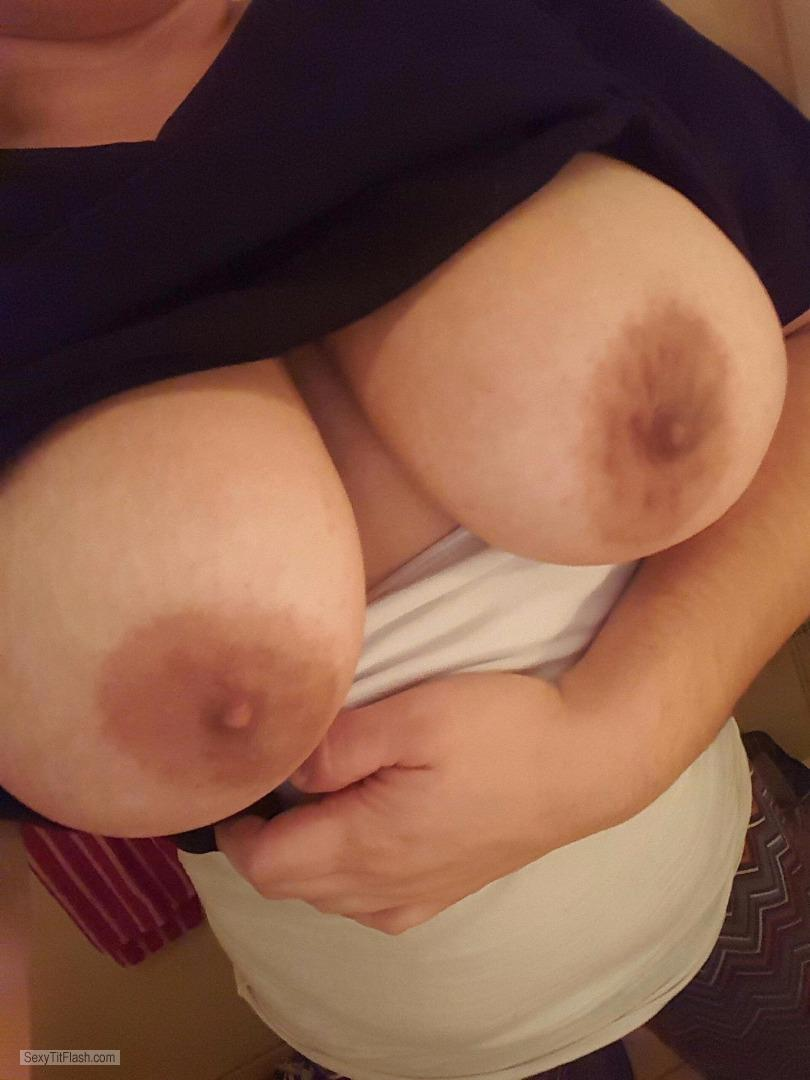 Big Tits Of My Girlfriend Selfie by BustyGF