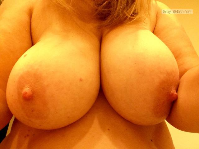 Tit Flash: Wife's Big Tits (Selfie) - Boobs from United States