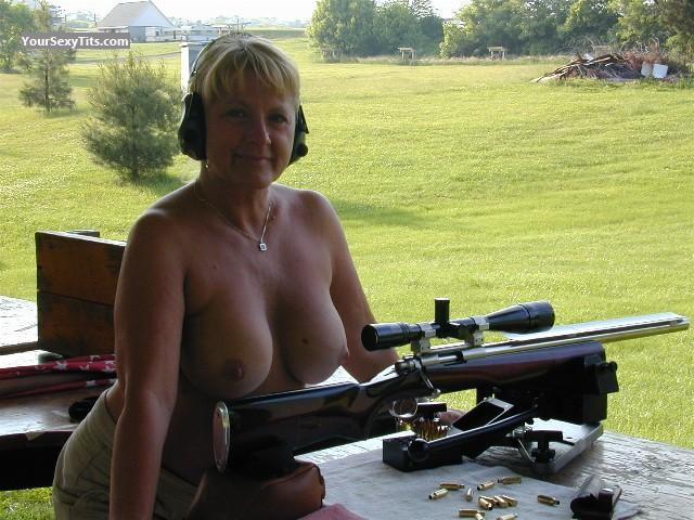 Tit Flash: Big Tits - Topless Chero from United States