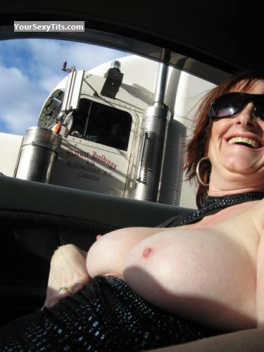 Tit Flash: Big Tits - Topless Suz from Canada