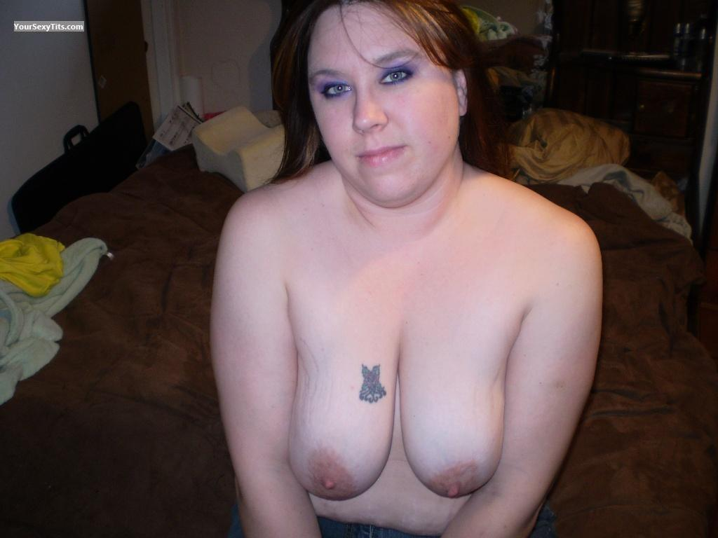 Tit Flash: Big Tits - Topless Bryann from United States