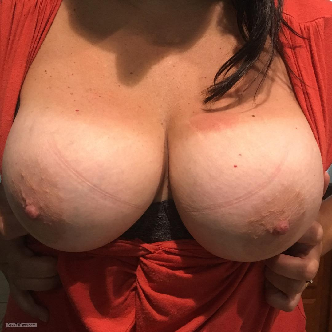 Tit Flash: My Tanlined Big Tits - Shan from United States