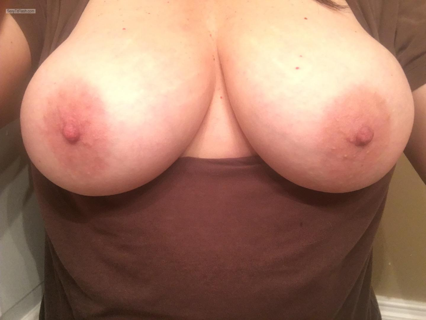 Tit Flash: My Big Tits (Selfie) - Topless Shannon from United States