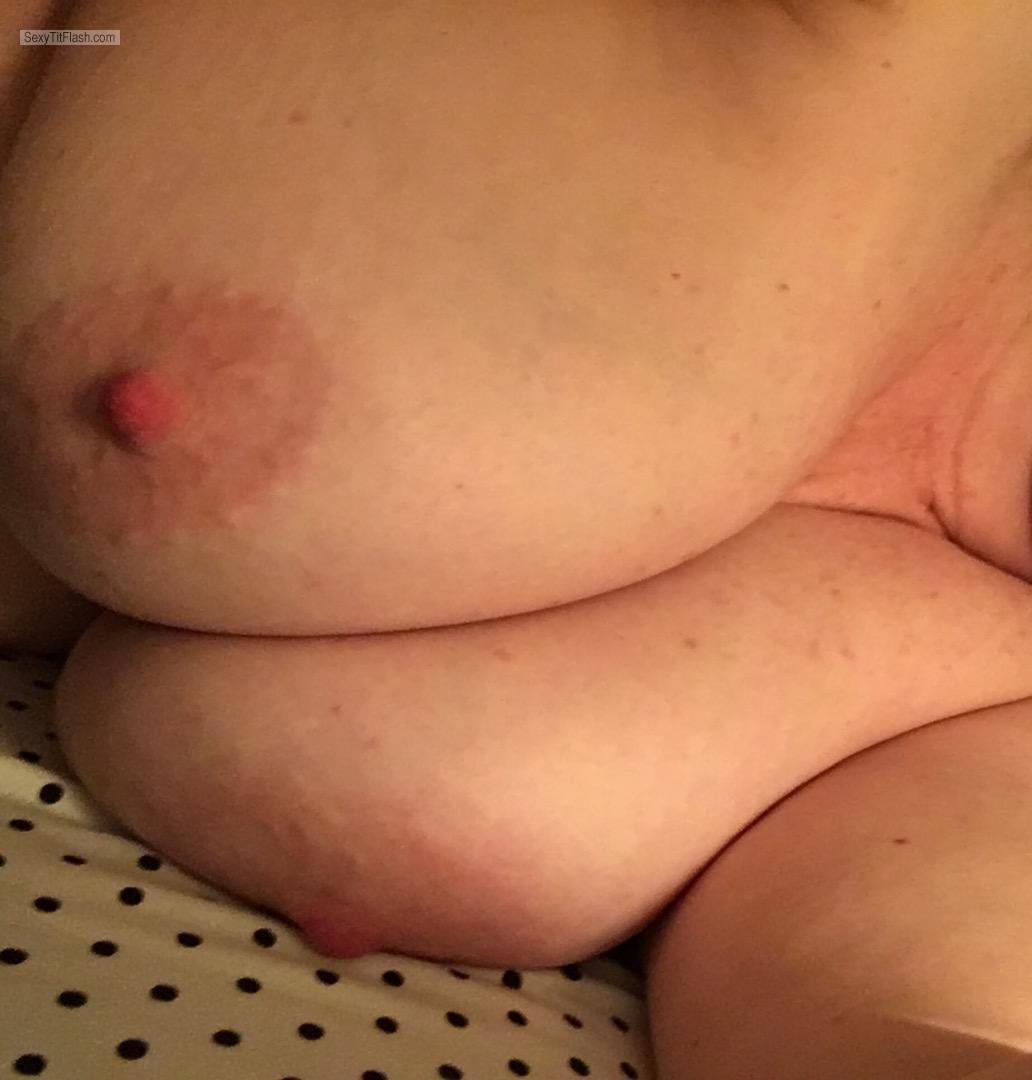 Tit Flash: My Big Tits - I ❤️ Shelf Bras from United Kingdom