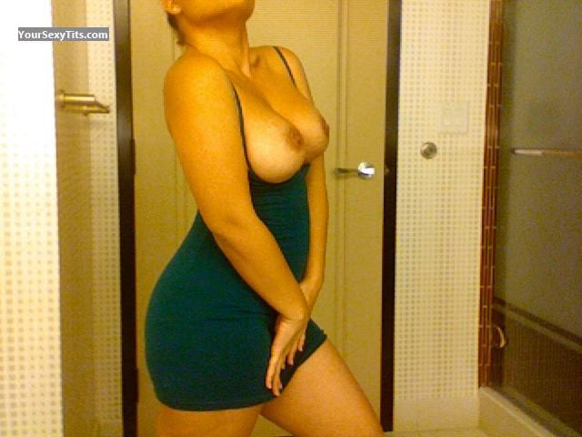 Tit Flash: My Big Tits (Selfie) - Yellowtail from United States