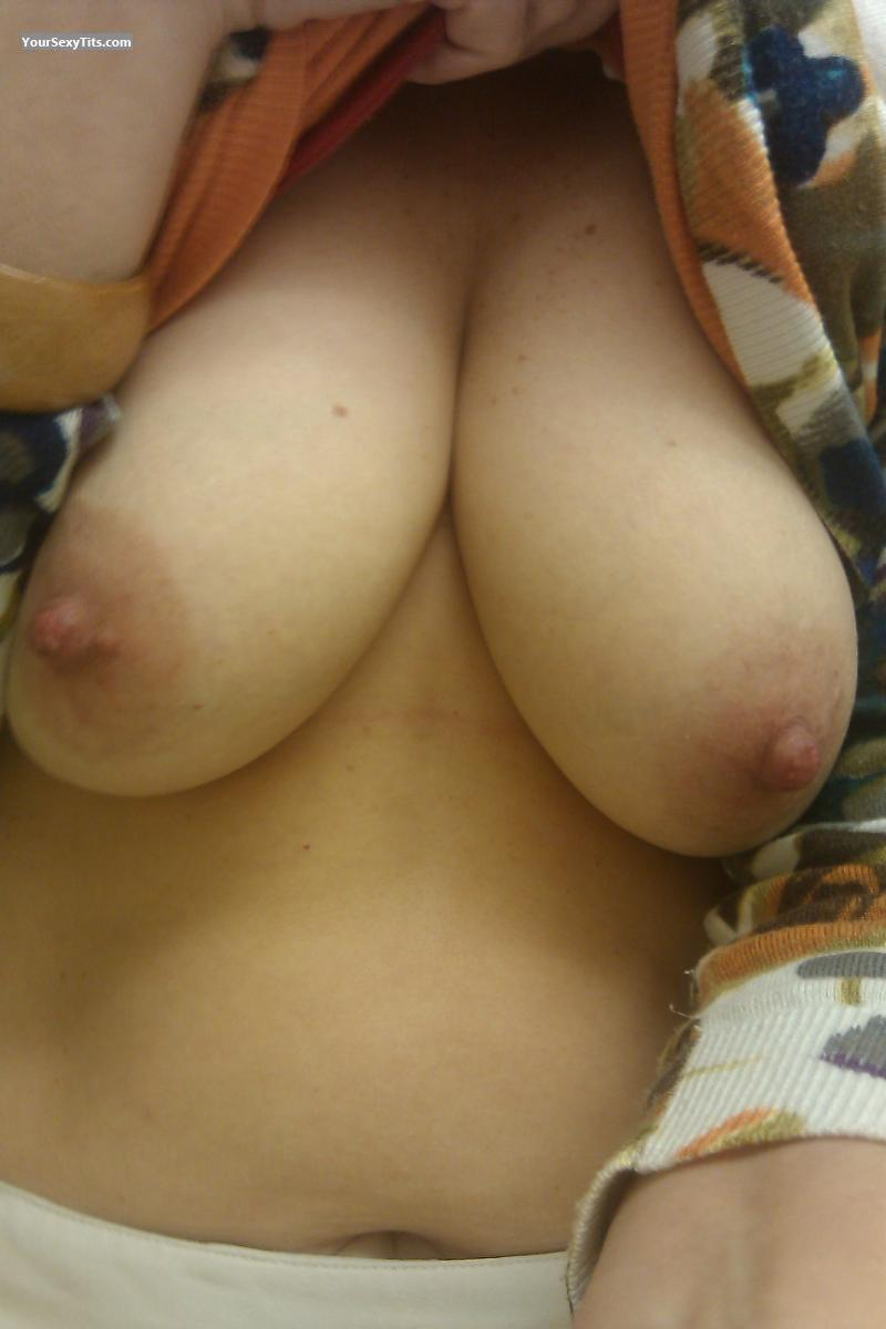 Tit Flash: My Big Tits (Selfie) - Fuzzy Tits from United States