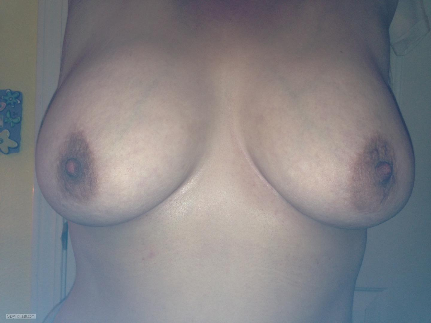 Tit Flash: My Big Tits - My Wife from United Kingdom