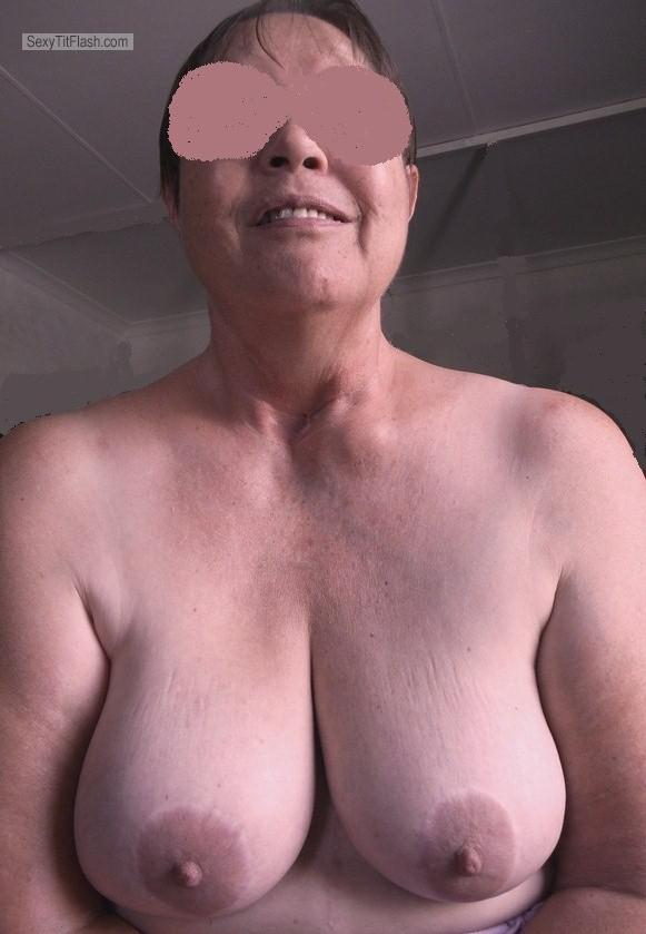 Tit Flash: My Big Tits - Topless Pearl from South Africa