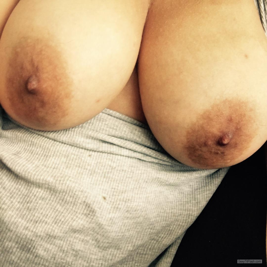 Tit Flash: My Big Tits - Topless Yum from United Kingdom