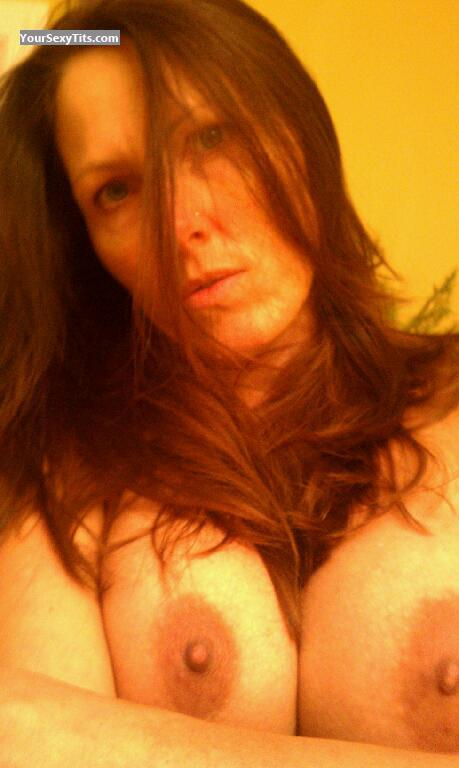 Tit Flash: My Big Tits (Selfie) - Topless Jssj from United States