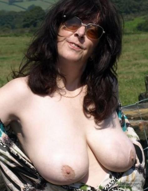 Tit Flash: My Friend's Big Tits - Topless Carole from United Kingdom