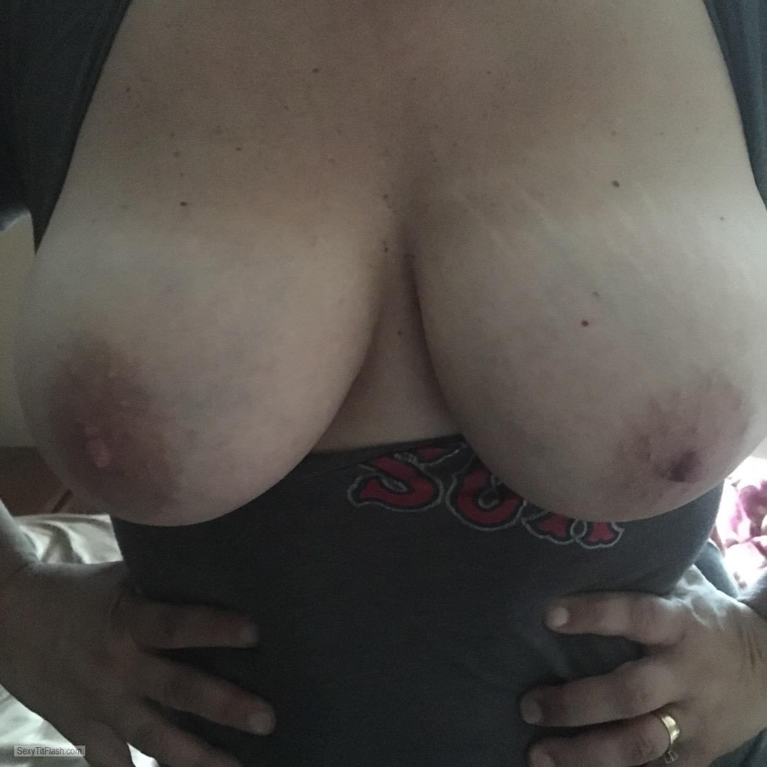 Tit Flash: My Tanlined Big Tits - Shannon from United States