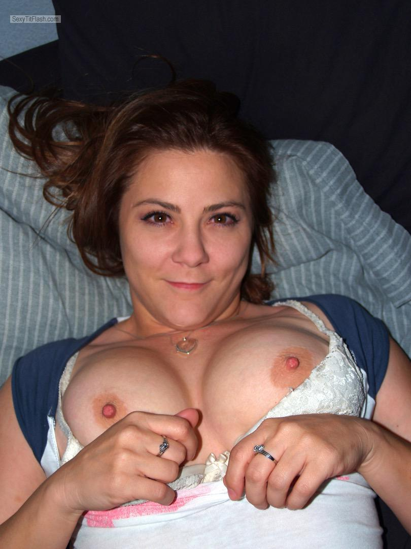 Tit Flash: My Big Tits - Topless Lvfuncpl from United States