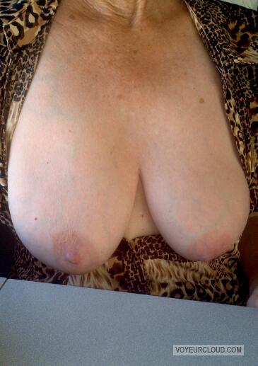 Tit Flash: Wife's Big Tits - Ann D from United States
