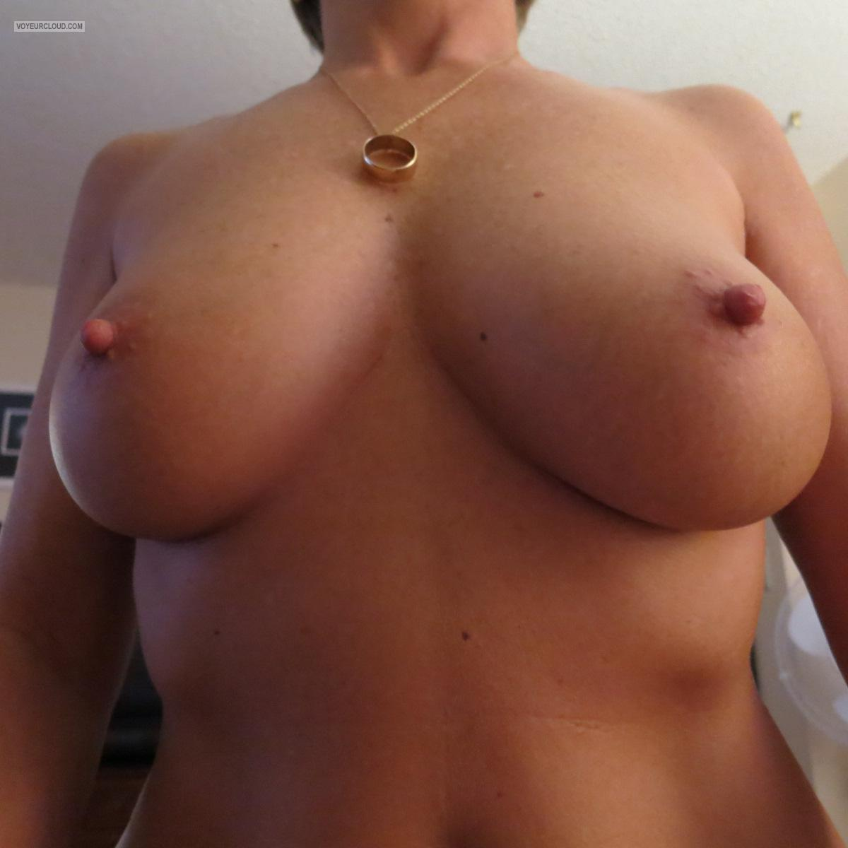 Pictures of my wifes tits