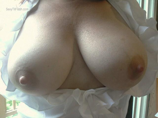 Tit Flash: Wife's Big Tits - LadyoftheWood from United States