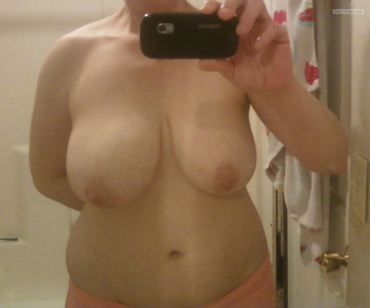 Tit Flash: My Friend's Big Tits (Selfie) - Windylake from United States